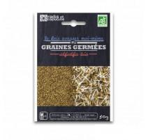 Graines à germer alfalfa bio, Radis et capucine