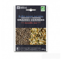 Graines à germer lentille bio, Radis et capucine