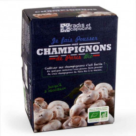 Kit de culture champignons de Paris bio, Radis et capucine