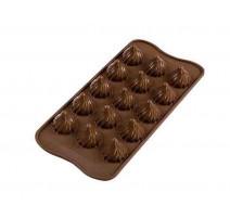 Moule chocolat 3D Flamme, Silikomart