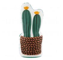 Cale-porte Placide cactus vannerie, Derrière la porte