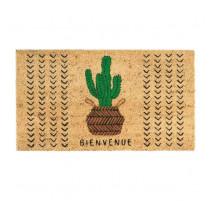 Paillasson coco Bienvenue cactus, Derrière la porte
