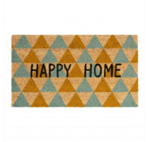 Paillasson coco Happy home triangles, Derrière la porte