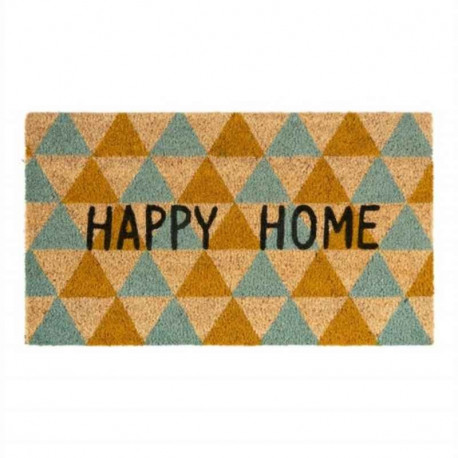 Acheter paillasson coco happy home triangles derri re la porte - Paillasson derriere la porte ...