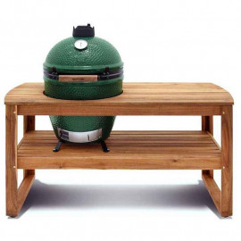 Table acacia pour barbecue Large, Big Green Egg