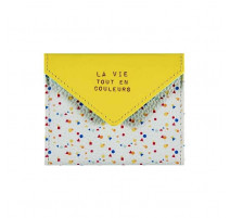 Porte-cartes la vie tout en couleurs, Derrière la porte