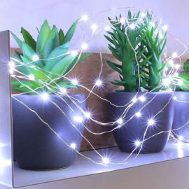 Guirlande électrique micro LED Blanc pur, Blachère illumination