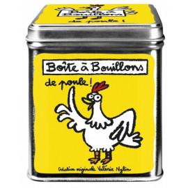Boite à bouillons de poule jaune, Derrière la porte