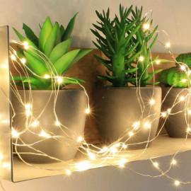 Guirlande électrique micro LED Blanc chaud, Blachère illumination