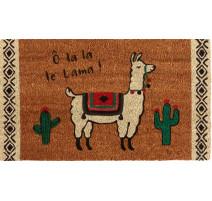 Paillasson coco Lama, Derrière la porte