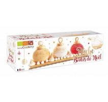 Kit moule bûche Boules de Noël, ScrapCooking