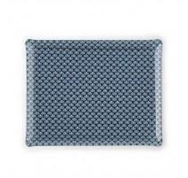 Plateau acrylique 46 x 36 Éventail bleu, Platex