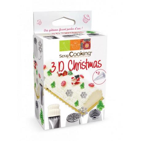 Kit douilles 3D Christmas, ScrapCooking