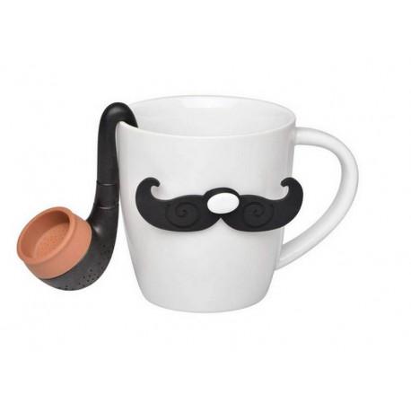 achat / vente coffret mug et infusuer gentleman - accessoire thé