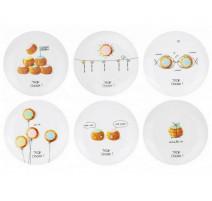 Coffret 6 assiettes à dessert Trop Choux, La chaise Longue