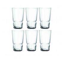 Coffret 6 gobelets en verre long drink Limito, Léonardo