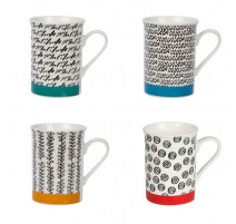 Coffret 4 mugs 34 cl Babylone, Table Passion