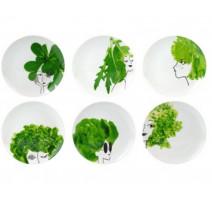 """Coffret 6 assiettes """"Les Petites Salades"""", La Chaise Longue"""