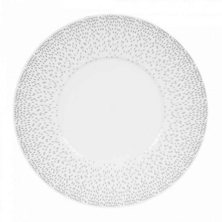 Assiette plate porcelaine Eole, Table Passion