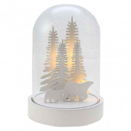 Cloche lumineuse en verre Ours, Blachère illumination