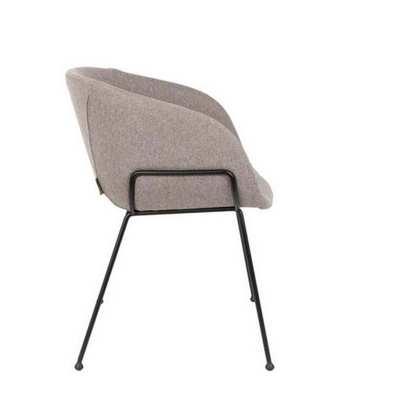 achat vente chaise tissu gris clair feston de zuiver. Black Bedroom Furniture Sets. Home Design Ideas