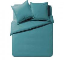 Housse de couette Soft Line Bleu Paon, Essix