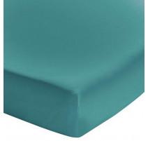 Drap housse Soft Line Bleu Paon, Essix