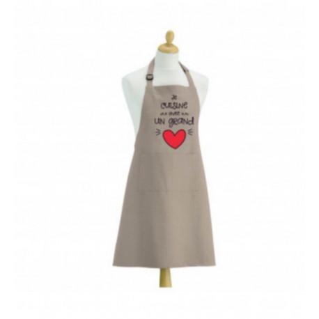 Tablier de cuisine Coeur ficelle, Winkler