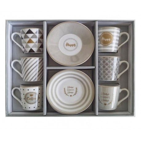 Coffret 6 tasses à café Home, Easy Life