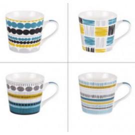 Coffret 4 mugs Maya, Table Passion