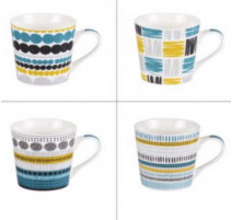 Coffret 4 mugs Maya, Table Passion