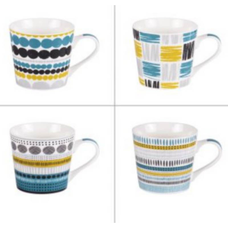 usine authentique d661b 34e6f Coffret 4 mugs Maya, Table Passion