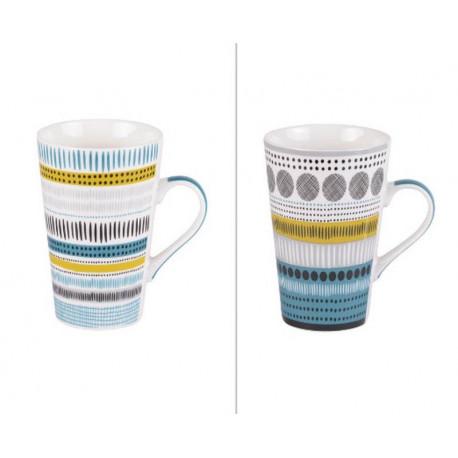 Coffret 4 mugs XL Maya, Table Passion