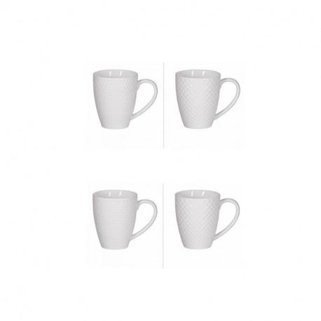 Coffret 4 mugs Snow, Table Passion