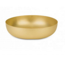 Corbeille ronde 21 cm Or Texture & Colors, Alessi