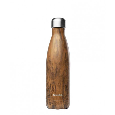 Bouteille 500 ml isotherme Wood, Qwetch