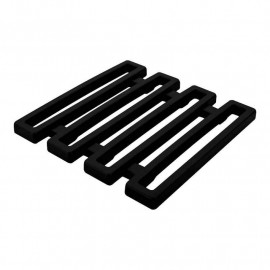Dessous de plat Meeme noir 15x15, Zak Designs
