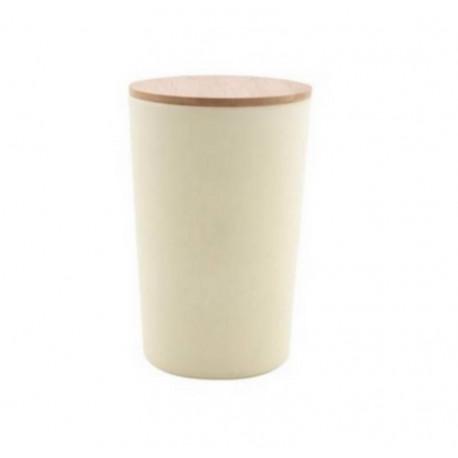 Boîte fibre de bambou XL Blanc Cassé, Point Virgule
