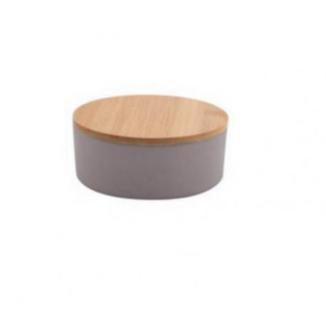 Boîte fibre de bambou PM gris, Point Virgule