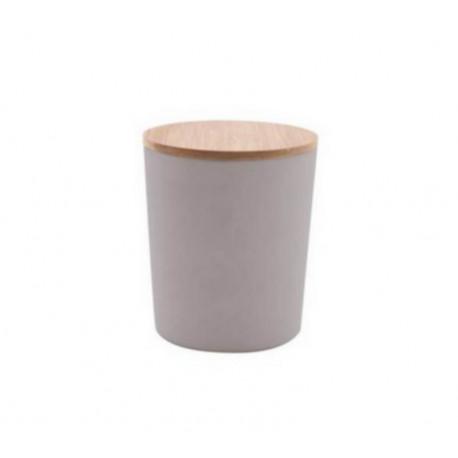 Boîte fibre de bambou GM gris, Point Virgule