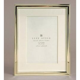 Cadre photo jonc argent pour photo 10x15 cm