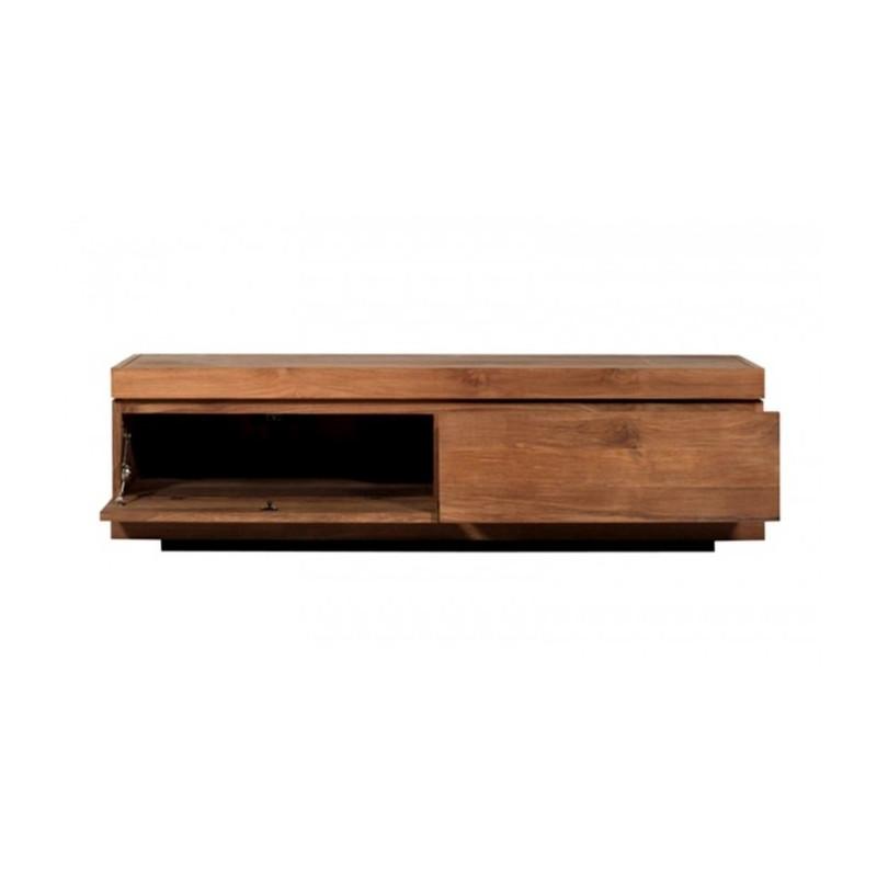 ethnicraft teck burger meuble tv bas 1porte abaissante 1tiroir 15324. Black Bedroom Furniture Sets. Home Design Ideas