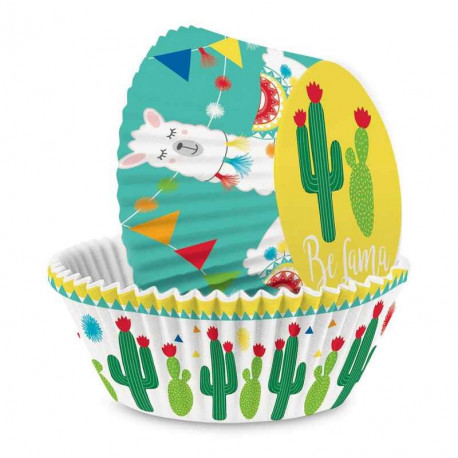 Caissettes Cupcakes Lama, ScrapCooking
