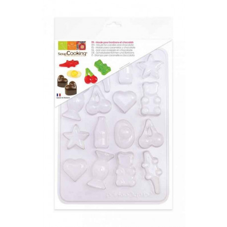 Moule blister 16 bonbons et chocolats, Scrapcooking