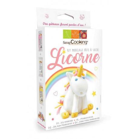 Kit modelage Licorne Pâte à sucre, ScrapCooking