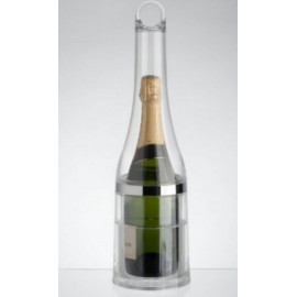 Seau à champagne, bouteille et glace, La Chaise Longue