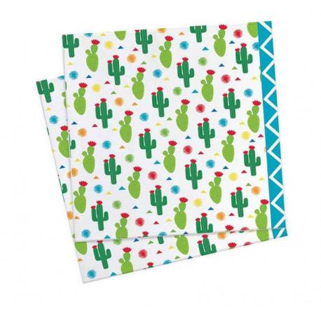 20 Serviettes en papier Lama, ScrapCooking Party