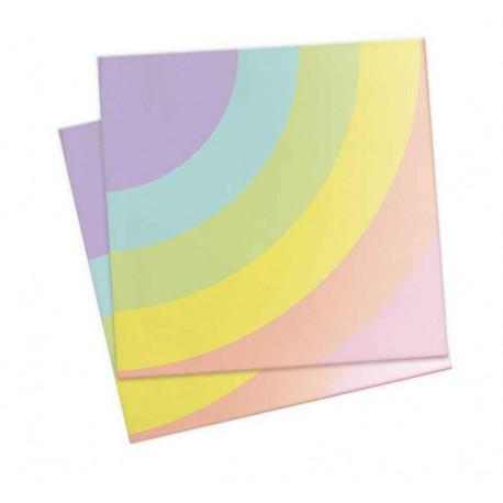 20 Serviettes en papier Licorne, ScrapCooking Party