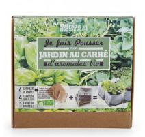 Jardin au carré d'aromates bio, Radis et capucine