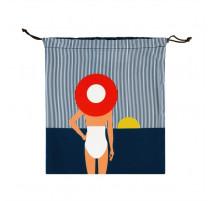Poche à maillot de bain Dame au chapeau, Derrière la porte